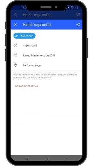 6 android reserva confirmada